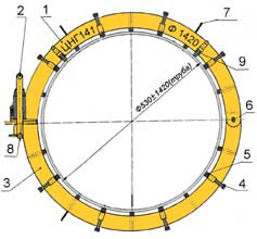 Центратор наружный с гидродомкратом ЦНГ